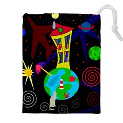 Colorful universe Drawstring Pouches (XXL)