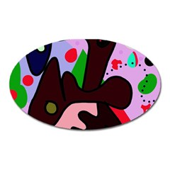 Decorative abstraction Oval Magnet