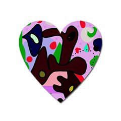 Decorative abstraction Heart Magnet