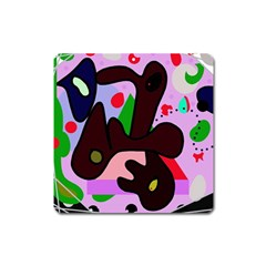 Decorative abstraction Square Magnet