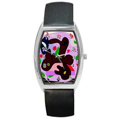 Decorative abstraction Barrel Style Metal Watch