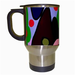 Decorative abstraction Travel Mugs (White)