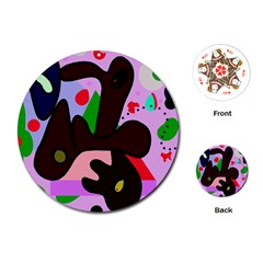 Decorative abstraction Playing Cards (Round)