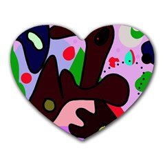 Decorative abstraction Heart Mousepads