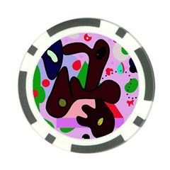 Decorative abstraction Poker Chip Card Guards