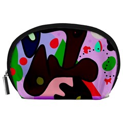 Decorative abstraction Accessory Pouches (Large)