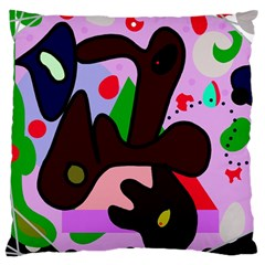 Decorative abstraction Large Flano Cushion Case (Two Sides)