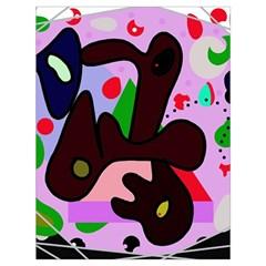 Decorative abstraction Drawstring Bag (Large)