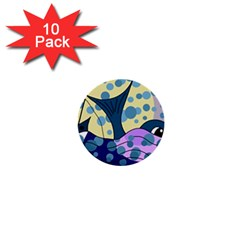 Whale 1  Mini Buttons (10 pack)