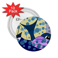 Whale 2.25  Buttons (10 pack)