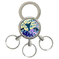Whale 3-Ring Key Chains