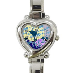 Whale Heart Italian Charm Watch