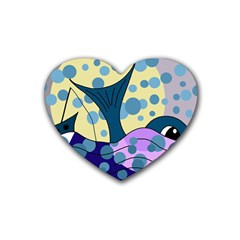 Whale Rubber Coaster (Heart)
