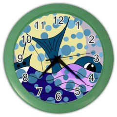 Whale Color Wall Clocks