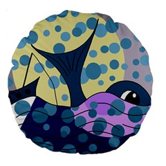 Whale Large 18  Premium Round Cushions