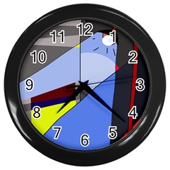 Street light Wall Clocks (Black)