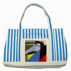 Street light Striped Blue Tote Bag