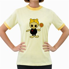 Cute doll girl Women s Fitted Ringer T-Shirts