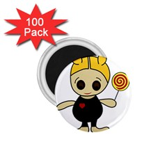 Cute doll girl 1.75  Magnets (100 pack)