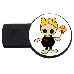 Cute doll girl USB Flash Drive Round (1 GB)