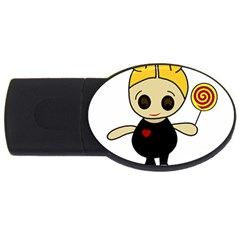 Cute doll girl USB Flash Drive Oval (2 GB)