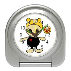 Cute doll girl Travel Alarm Clocks