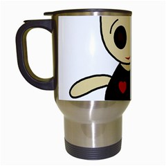 Cute doll girl Travel Mugs (White)