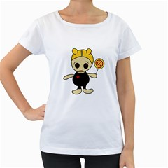 Cute doll girl Women s Loose-Fit T-Shirt (White)