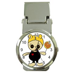 Cute doll girl Money Clip Watches