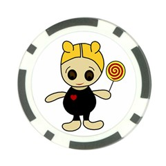 Cute doll girl Poker Chip Card Guards (10 pack)