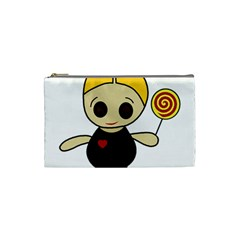 Cute doll girl Cosmetic Bag (Small)