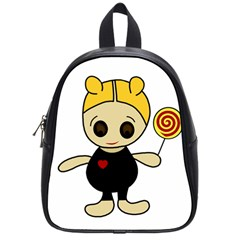 Cute doll girl School Bags (Small)