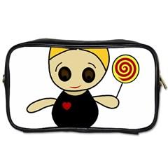 Cute Doll Girl Toiletries Bags