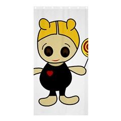Cute doll girl Shower Curtain 36  x 72  (Stall)