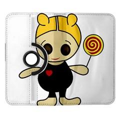 Cute doll girl Samsung Galaxy Note II Flip 360 Case