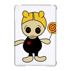 Cute doll girl Apple iPad Mini Hardshell Case (Compatible with Smart Cover)
