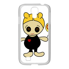 Cute doll girl Samsung GALAXY S4 I9500/ I9505 Case (White)