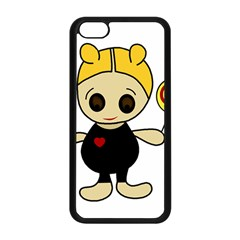 Cute doll girl Apple iPhone 5C Seamless Case (Black)