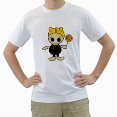 Cute doll girl Men s T-Shirt (White)