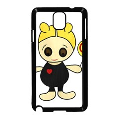 Cute doll girl Samsung Galaxy Note 3 Neo Hardshell Case (Black)