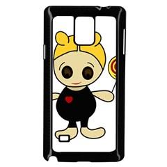 Cute doll girl Samsung Galaxy Note 4 Case (Black)