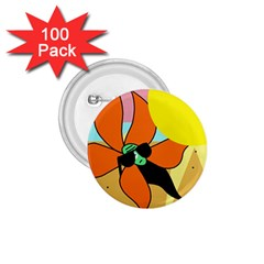 Sunflower on sunbathing 1.75  Buttons (100 pack)