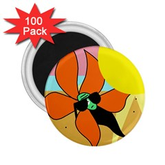 Sunflower on sunbathing 2.25  Magnets (100 pack)
