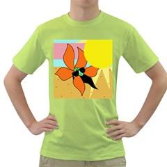 Sunflower on sunbathing Green T-Shirt