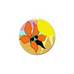 Sunflower on sunbathing Golf Ball Marker (4 pack)