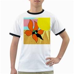 Sunflower on sunbathing Ringer T-Shirts