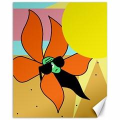 Sunflower on sunbathing Canvas 11  x 14