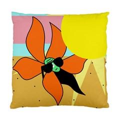Sunflower on sunbathing Standard Cushion Case (Two Sides)