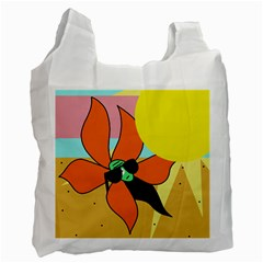 Sunflower on sunbathing Recycle Bag (One Side)