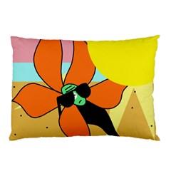 Sunflower on sunbathing Pillow Case (Two Sides)